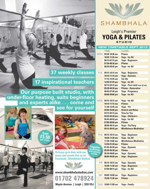 new yoga and pilates timetable